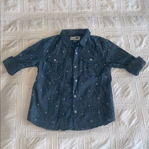 Girls old navy button down shirt